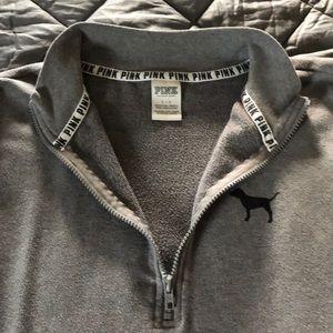 Victoria's Secret Tops - PINK 1/4 zip sweatshirt